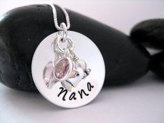 Royal Lion Silver Oval Necklace I Love My Nana Grandma Grandmother
