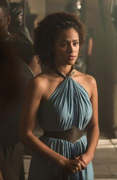 Nathalie Emmanuel as Missandei, Personal servant to Daenerys in Game of Thrones