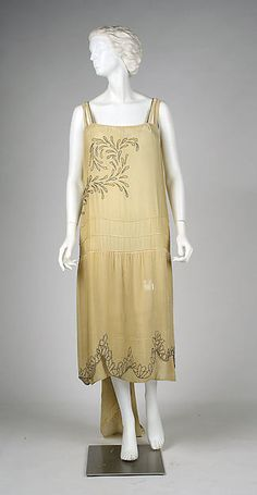 Evening dress (image 1) | House of Worth | French | 1927 | silk, metal, glass | Metropolitan Museum of Art | Accession Number: C.I.58.67.19