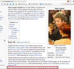 Somebody got to Wikipedia really quickly… | The Internet's Reaction To The Twelfth Doctor