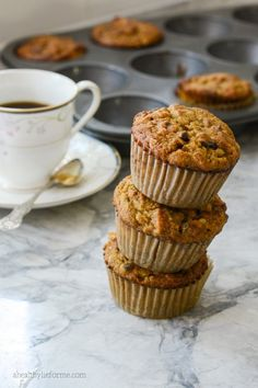 Gluten Free Pumpkin Coconut Chocolate Muffins are packed full of sweet flavor while keeping it gluten-free, grain free, dairy free and perfect for paleo.   I love adding this to my morning breakfast, a little bit of sweet, a ton of potassium and healthy fats to fire up the muscles and brain.  - A Healthy Life For Me