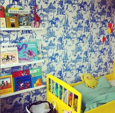 the boo and the boy: eclectic kids' rooms- love the wallpaper