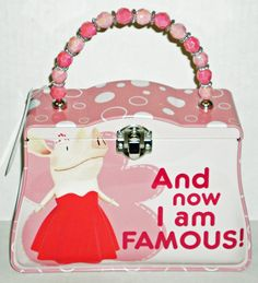 """Olivia The Pig """"Famous"""" Classic Purse Tin with Beaded Handle. You look smashing Olivia ♥"""
