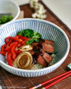 Easy Steak and Onion Rice Bowl