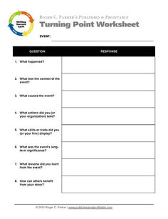 Use this worksheet to identify opportunities to create memorable story-based content marketing