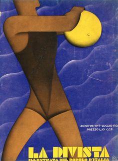 La Rivista illustrata del Popolo d'Italia 1930 anno VIII  - Paolo Garretto (Napoli, 12 settembre 1903 – Monaco, 3 agosto 1989)