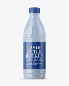 Glossy Plastic Bottle Mockup - Front View (Preview)