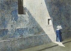Light Shaft, Robert Remsen Vickrey (1926-2011). Clock Without Hands.