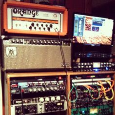 Guitar tracking rig.    Undertow Music Studio     I scored the Music Man HD-130 on Ebay a couple of years back, it sounds great.