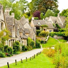 "Bibury, England ""This old village is known for both its honey-colored stone cottages with steeply pitched roofs as well as for being the filming location for movies like Bridget Jones' Diary. It's been called 'the most beautiful village in England. Places Around The World, The Places Youll Go, Places To See, Around The Worlds, Stone Cottages, Stone Houses, Voyage Europe, Destination Voyage, English Countryside"