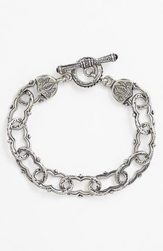 Free shipping and returns on Konstantino 'Classics' Link Toggle Bracelet at Nordstrom.com. Ornate etchings pattern the scalloped chain links of an artisanal handcrafted bracelet.