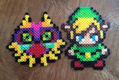 Link and Majora's Mask Zelda Bead Sprite Set.....♡!