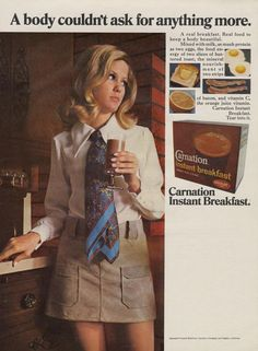 1969 Carnation Instant Breakfast Vintage Ad by AdVintageCom