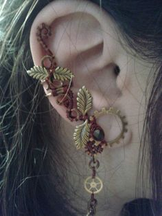 Steampunk Mystic Ear Cuff Set by Jynxsbox on Etsy, $40.00