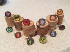 Handmade superhero cufflinks for my wedding