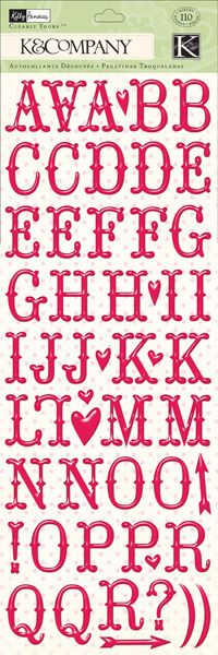 Kelly Panacci Valentine Alphabet Clearly Yours Stickers Paper Design, How To Find Out, Alphabet, Scrapbooking, Collections, Stickers, My Style, Pattern, Alpha Bet