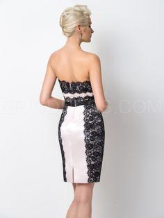 Ericdress Exquisite Strapless Sheath Lace Short Cocktail Dress 3