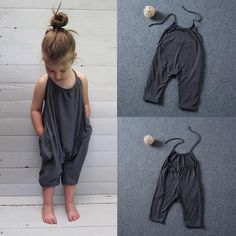 Baby Girl Casual Overalls #BabygirlOveralls