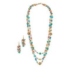 Summer Breeze Collection Necklace and Earring Set Think globally. A world of patterns, prints and details are ready to broaden your outfits' horizons.  The Hot Terrain Heels combine a downtown-cool feel with global detailing. mark. By Avon Hot Terrain Heels
