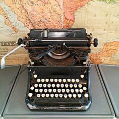 Antique royal typewriter classic black manual by FlickerAndSway