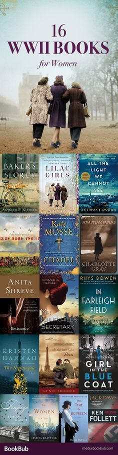 16 World War II books for women. If you love history books, these WWII novels are worth reading.