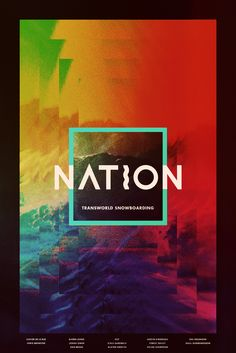 Nation - Transworld Snowboarding Movie Poster - Austen Sweetin, Austin Hironaka, Forest Bailey  #Nation, #MoviePoster, #MarkWiitanen, #Sports, #AustenSweetin, #AustinHironaka, #ForestBailey, #TransworldSnowboarding