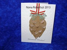 Pine Cone Card | Handmade Fun; This card used Oval 3 from the Art ...