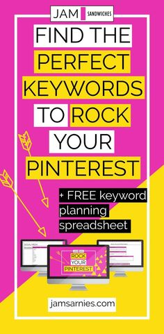 Rock your Pinterest marketing and make sure your business account is fully optimised. Create a HUGE list of keywords your audience is searching for with my free keyword planning spreadsheet.