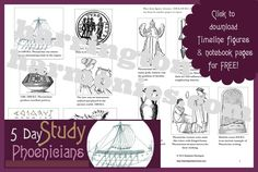 Download Free Phoenician timeline figures and notebook pages by Stephanie Harrington.