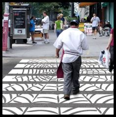 Let's design the city Pedestrian Crossing, Zebra Crossing, Street View, Let It Be, Pavement, History, City, Benches, Transportation