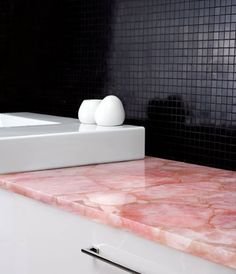 5 Ways to Decorate Your Home with Rose Quartz and Serenity - counter top