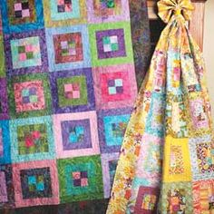 A beautiful quilt for a beginner or not a beginner.  Love the colors.