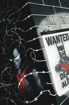 "New Release June Batman Beyond ""Target: Batman"" part two! When a hyper-crime crisis strikes Neo-Gotham, Batman flies in to save the day. The New Batman, Batman And Batgirl, Im Batman, Batman The Dark Knight, Gotham Batman, Superman, Batman Universe, Comics Universe, Batman Beyond Terry"