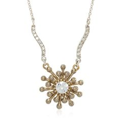 """Shining Star Sterling #silver and #brass #CZ star necklace 16-19"""" #esbedesigns"""