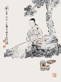 "Korean Artist ""damwon Kim-Chang bae大韓民國 潭園金昌培 畵家 "" Zen Art 문향(40×55cm)2009年作"