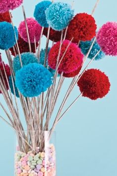 DIY Pom Pom Bouquet   Valentines Day Crafts for Kids - Parenting.com