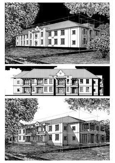 conceptual and rendered layouts