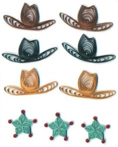 $4 : Provo Craft Stand Outs Quilled Stickers-Cowboy Hats