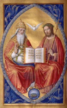 Dieu le Père et N.S. Jésus Christ - Icône -