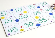 Make these simple skip counting puzzles for your kindergarten math center. Great free choice activity or PreK and Kindergarten. Counting Puzzles, Skip Counting, Education Quotes For Teachers, Quotes For Students, Middle School Science, Elementary Science, Kindergarten Art, Graphic Organizers, Math Games