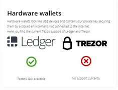 Tezos Wallets - How to store Tezos (XTZ) coins safely. Hardware Wallets, Webwallets, paperwallets and other information. Cryptocurrency News, Crypto Currencies, Wallets, Investing, Hardware, Store, Storage, Computer Hardware, Business