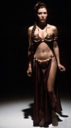 Princess Leia as Jabba's prisoner (Return of the Jedi)