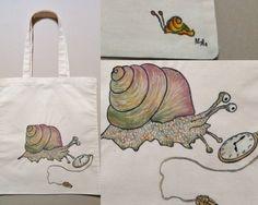 by on DeviantArt Snail, Reusable Tote Bags, Deviantart, Slug