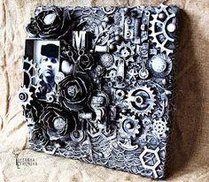 Handmade by Yulianna: Коллаж на холсте 20х20 см.