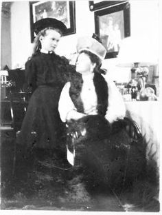 Grand Duchess Olga with her mother, 1908