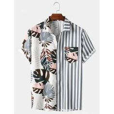 Cool Shirts, Casual Shirts, Casual Outfits, Chemise Fashion, Mode Streetwear, Aesthetic Clothes, Printed Shirts, Shirt Style, Men's T Shirts