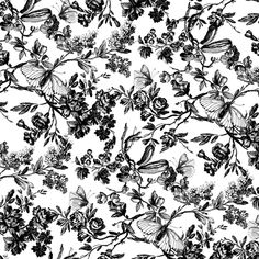28 best floral print black white images on pinterest floral 013 floral print black white mightylinksfo