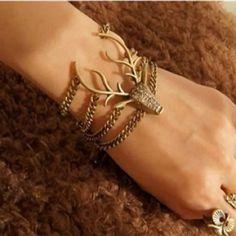 New deer head  bracelet Boho gypsy Still in manufactures plastic Jewelry Bracelets