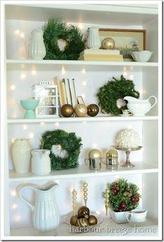 Christmas Bookcase