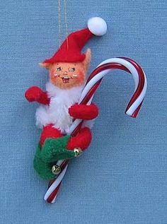"Annalee 3"" Red Candycane Elf Ornament - 812107"